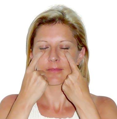 acupression pour le visage
